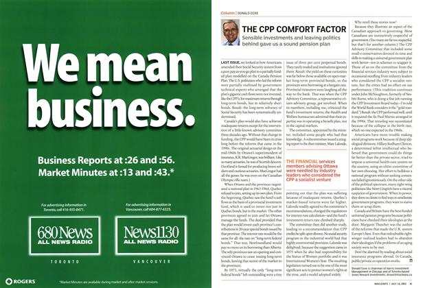 Article Preview: THE CPP COMFORT FACTOR, July 2003 | Maclean's