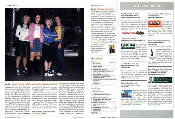 Article Preview: BESTSELLERS, July 2003   Maclean's