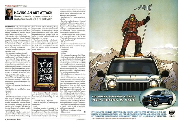 Article Preview: HAVING AN ART ATTACK, July 2003 | Maclean's