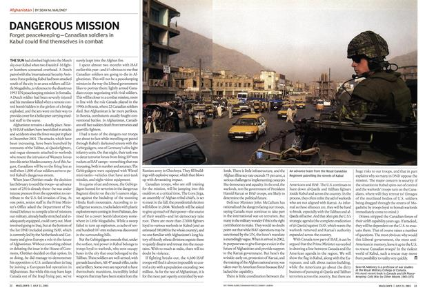 Article Preview: DANGEROUS MISSION, July 2003 | Maclean's