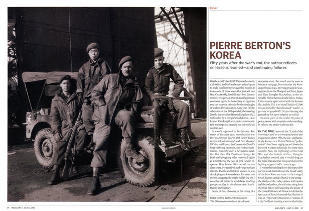 Article Preview: PIERRE BERTON'S KOREA, July 2003 | Maclean's