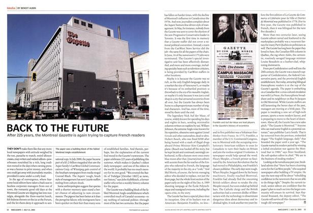 Article Preview: BACK TO THE FUTURE, July 2003 | Maclean's