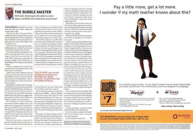 Article Preview: THE BUBBLE MASTER, July 2003 | Maclean's