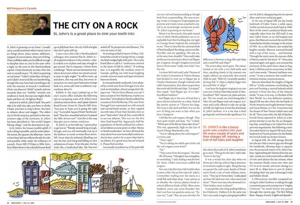 Article Preview: THE CITY ON A ROCK, July 2003 | Maclean's