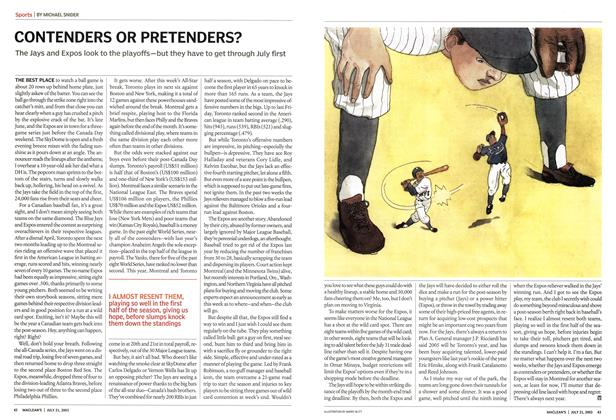 Article Preview: CONTENDERS OR PRETENDERS?, July 2003 | Maclean's