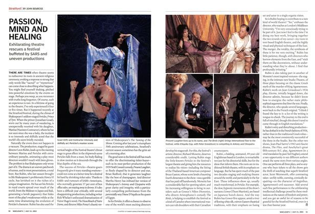Article Preview: PASSION, MIND AND HEALING, July 2003 | Maclean's