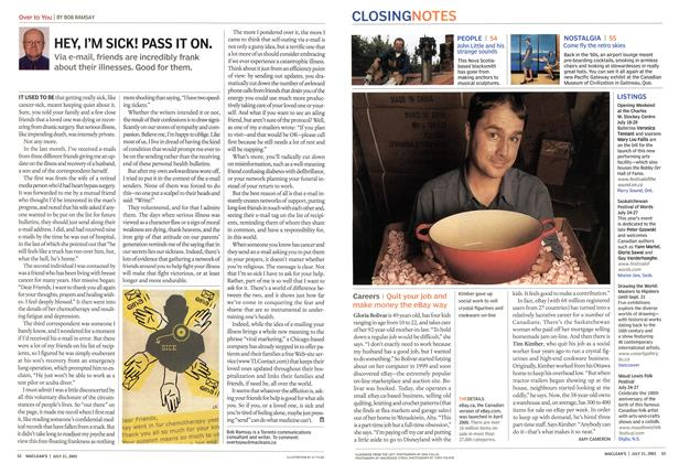 Article Preview: HEY, I'M SICK! PASS IT ON., July 2003 | Maclean's