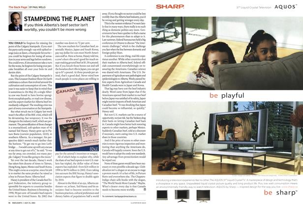 Article Preview: STAMPEDING THE PLANET, July 2003 | Maclean's
