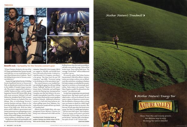 Article Preview: Benefit rock, July 2003 | Maclean's