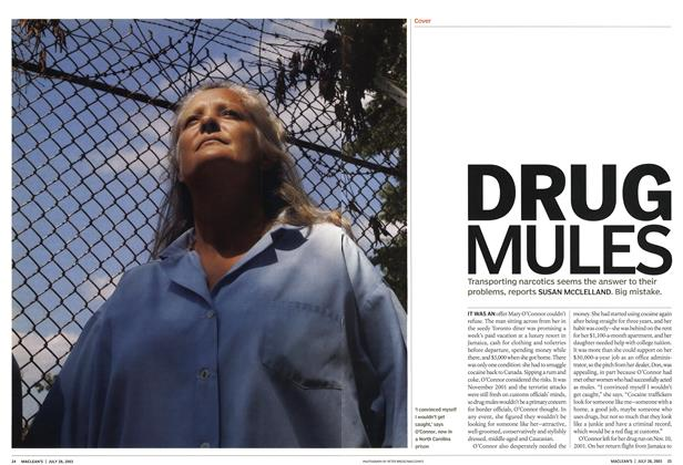 Article Preview: DRUG MULES, July 2003 | Maclean's