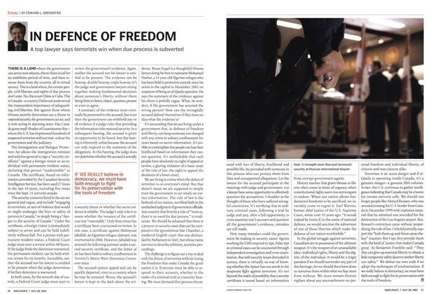 Article Preview: IN DEFENCE OF FREEDOM, July 2003 | Maclean's
