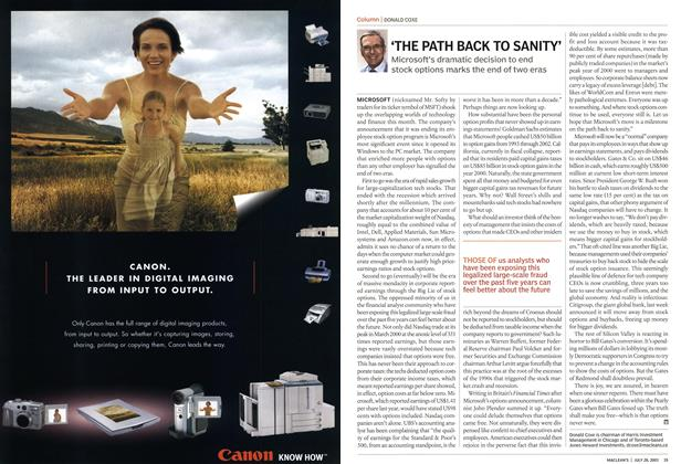 Article Preview: 'THE PATH BACK TO SANITY', July 2003 | Maclean's