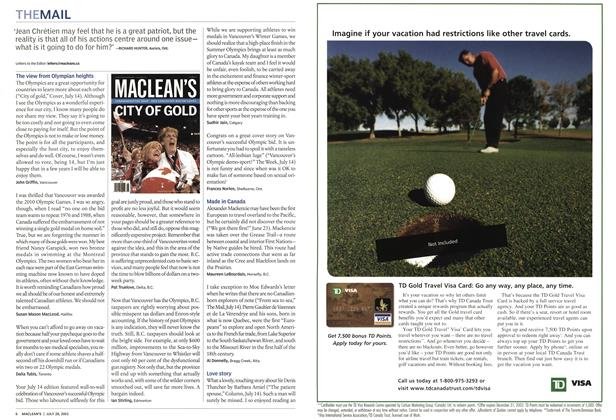 Article Preview: THE MAIL, July 2003 | Maclean's
