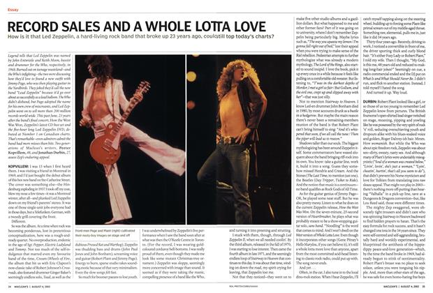 Article Preview: RECORD SALES AND A WHOLE LOTTA LOVE, August 2003 | Maclean's