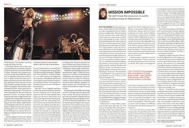 Article Preview: MISSION IMPOSSIBLE, August 2003 | Maclean's