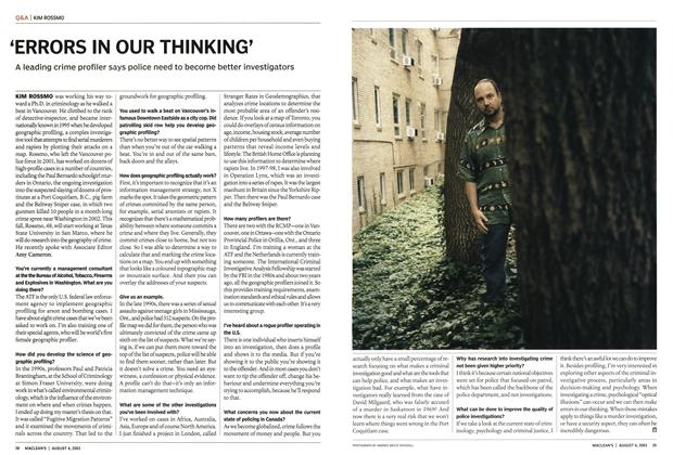 Article Preview: 'ERRORS IN OUR THINKING', August 2003 | Maclean's