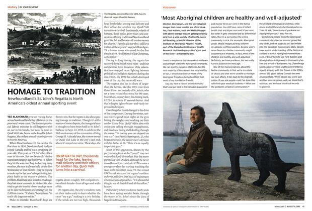 Article Preview: HOMAGE TO TRADITION, August 2003 | Maclean's