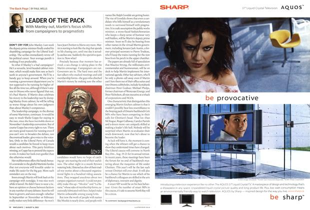 Article Preview: LEADER OF THE PACK, August 2003 | Maclean's