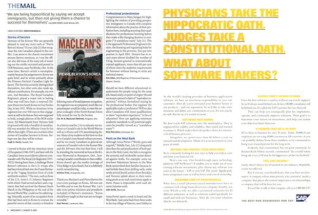 Article Preview: THEMAIL, August 2003 | Maclean's