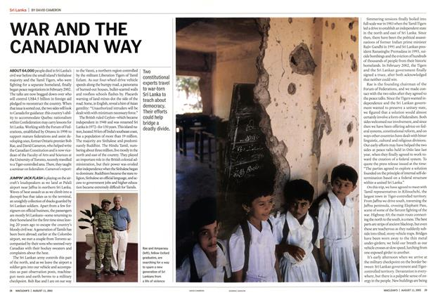 Article Preview: WAR AND THE CANADIAN WAY, August 2003 | Maclean's