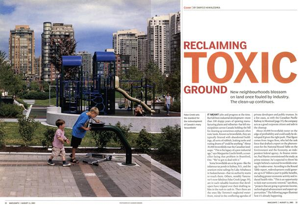 Article Preview: RECLAIMING TOXIC GROUND, August 2003 | Maclean's