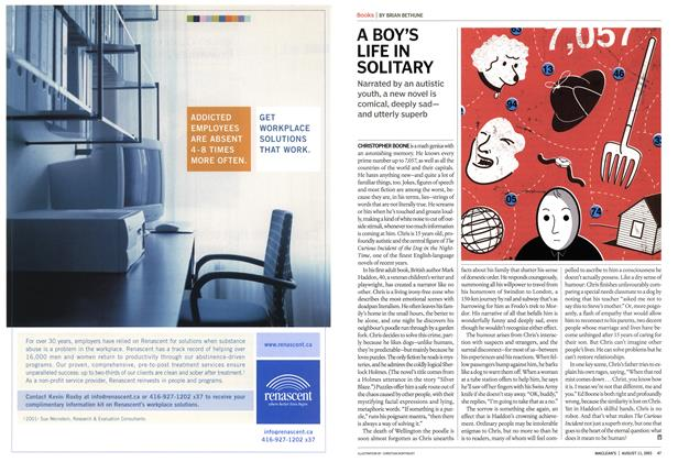 Article Preview: A BOY'S LIFE IN SOLITARY, August 2003 | Maclean's