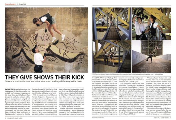 Article Preview: THEY GIVE SHOWS THEIR KICK, August 2003 | Maclean's