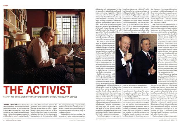 Article Preview: THE ACTIVIST, August 2003 | Maclean's
