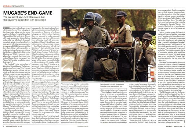 Article Preview: MUGABE'S END-GAME, August 2003 | Maclean's