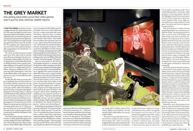 Article Preview: THE GREY MARKET, August 2003 | Maclean's