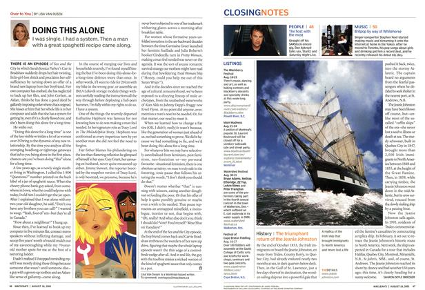 Article Preview: DOING THIS ALONE, August 2003 | Maclean's
