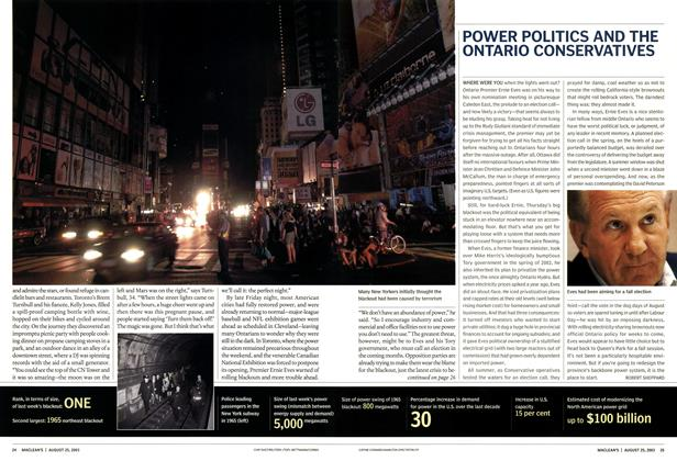 Article Preview: POWER POLITICS AND THE ONTARIO CONSERVATIVES, August 2003 | Maclean's