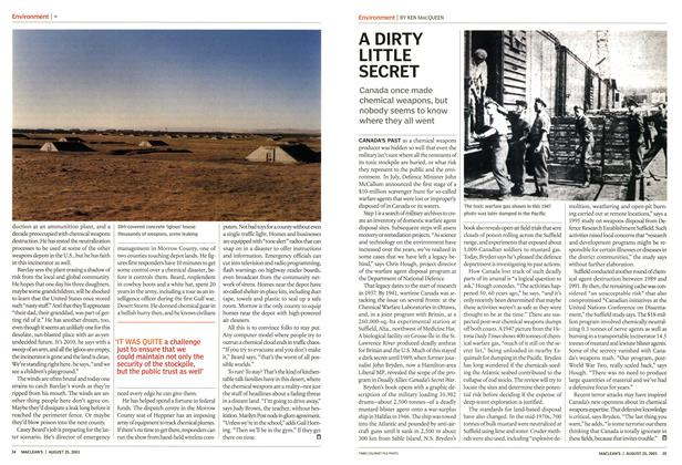 Article Preview: A DIRTY LITTLE SECRET, August 2003 | Maclean's