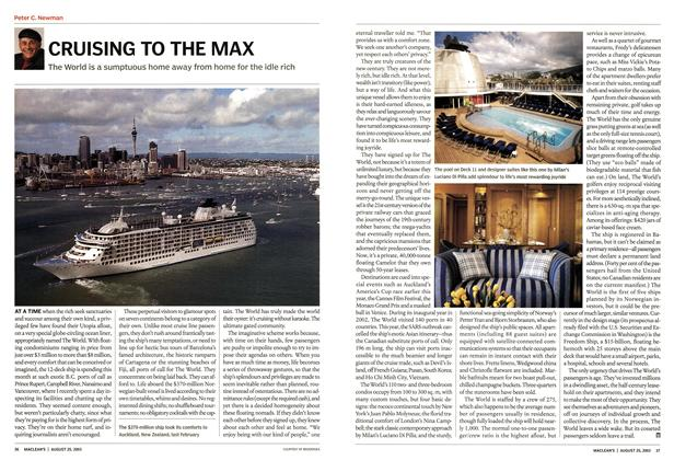 Article Preview: CRUISING TO THE MAX, August 2003 | Maclean's
