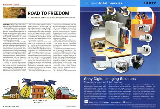 Article Preview: ROAD TO FREEDOM, August 2003 | Maclean's