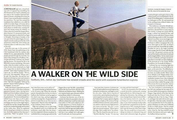 Article Preview: A WALKER ON THE WILD SIDE, August 2003 | Maclean's