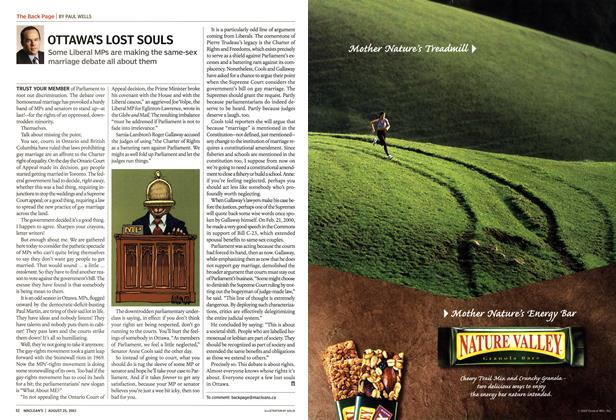 Article Preview: OTTAWA'S LOST SOULS, August 2003 | Maclean's
