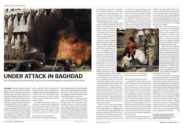 Article Preview: UNDER ATTACK IN BAGHDAD, September 2003 | Maclean's