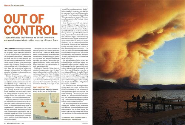 Article Preview: OUT OF CONTROL, September 2003 | Maclean's