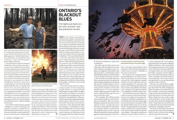 Article Preview: ONTARIO'S BLACKOUT BLUES, September 2003 | Maclean's
