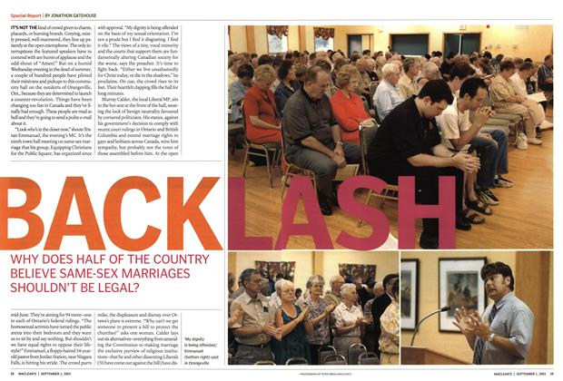 Article Preview: BACKLASH, September 2003 | Maclean's