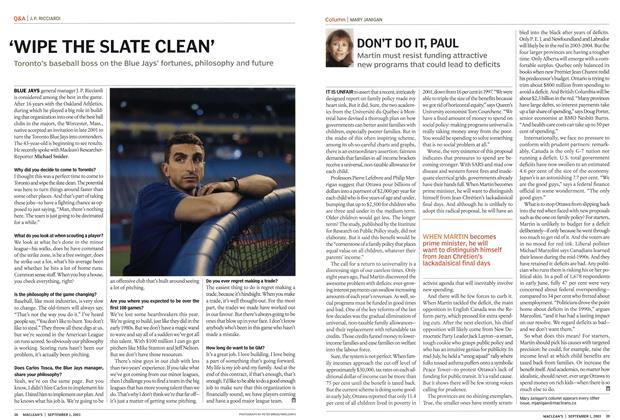 Article Preview: DON'T DO IT, PAUL, September 2003 | Maclean's