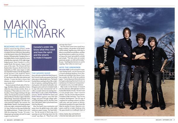 Article Preview: MAKING THEIR MARK, September 2003 | Maclean's