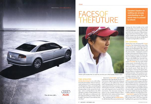 Article Preview: FACES OF THE FUTURE, September 2003 | Maclean's