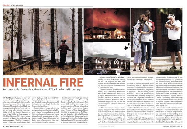 Article Preview: INFERNAL FIRE, September 2003 | Maclean's