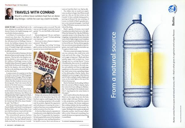 Article Preview: TRAVELS WITH CONRAD, September 2003 | Maclean's