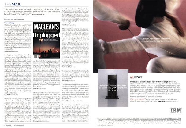 Article Preview: THE MAIL, September 2003 | Maclean's