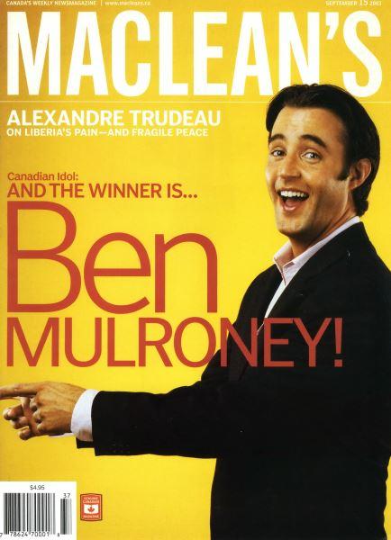 Issue: - September 2003 | Maclean's