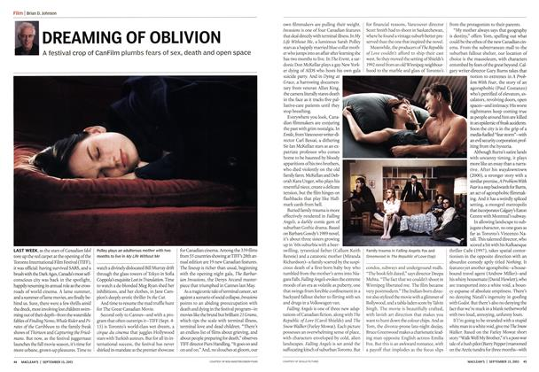 Article Preview: DREAMING OF OBLIVION, September 2003 | Maclean's