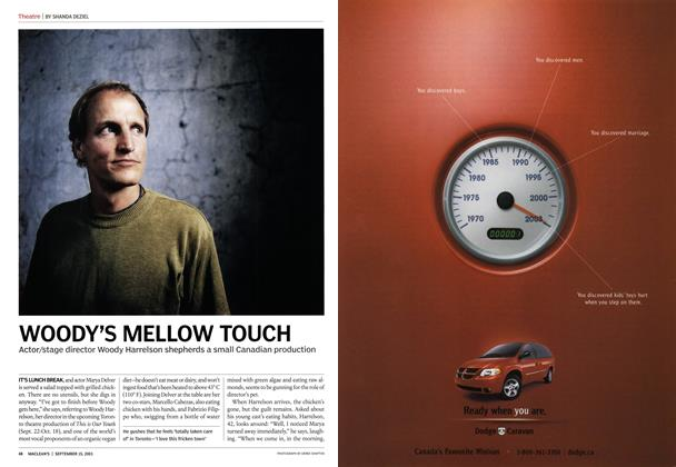 Article Preview: WOODY'S MELLOW TOUCH, September 2003 | Maclean's